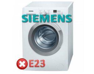 Ошибка E23 в стиральной машине Siemens