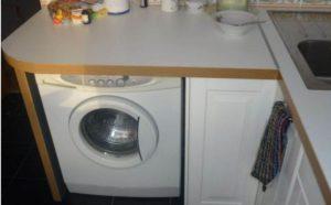 Куда поставить стиральную машину в маленькой кухне