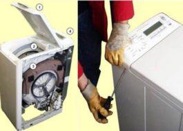 Разборка стиральной машины с вертикальной загрузкой