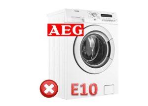 Ошибка E10 в стиральной машине АЕГ