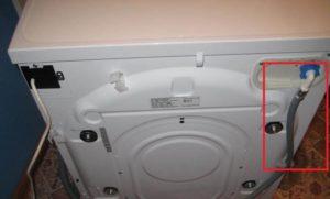 проверьте наливной шланг стиральной машины