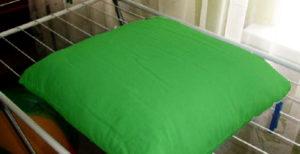 как сушить подушку