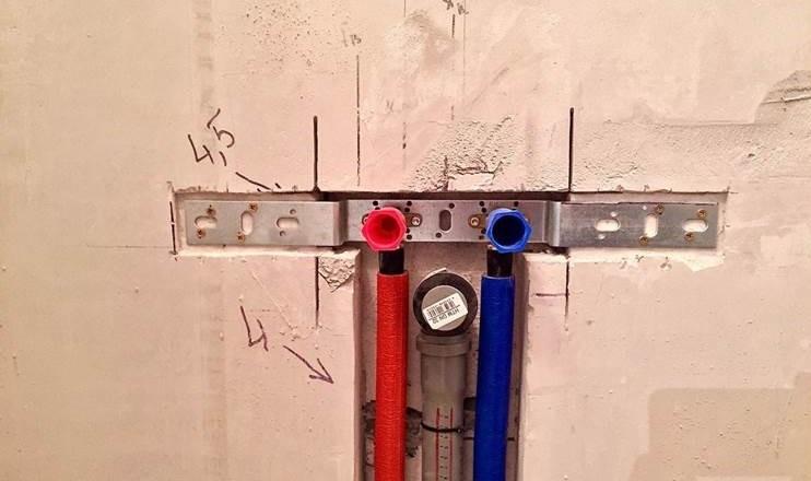 установка водорозетки на монтажную планку
