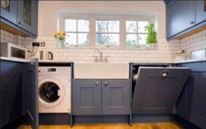 Как скрыть стиральную машину на кухне?