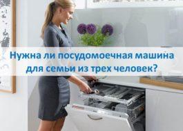 Нужна ли посудомоечная машина для семьи из трех человек