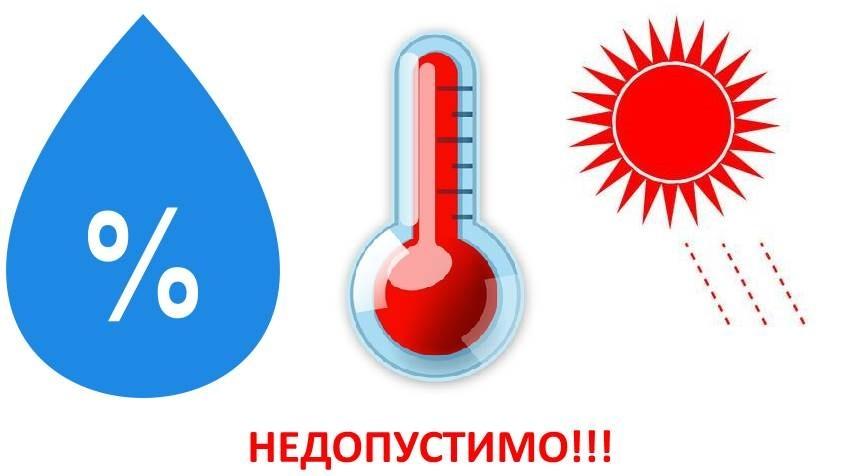повышенная влажность высокая температура и прямые солнечные лучи губят порошок
