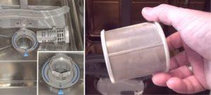 регулярно очищайте фильтр посудомойки