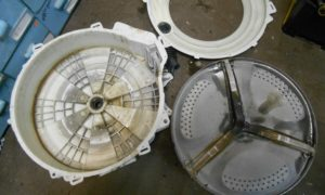 Разборка неразборного бака стиральной машины