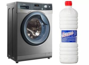 Чистка стиральной машины Белизной