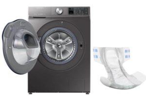 Что делать, если постирали памперс с другими вещами в стиральной машине