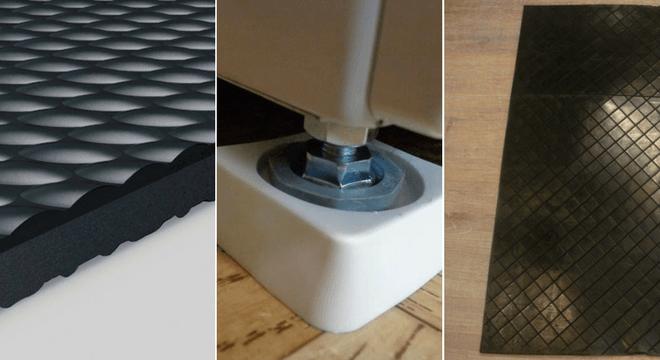 антивибрационные коврики или подставки под ножки