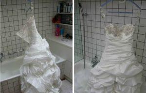 как сушить платье