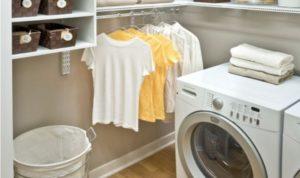 Как поставить стиральную машину в гардеробной