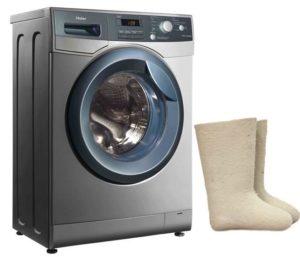 Как постирать валенки в стиральной машине