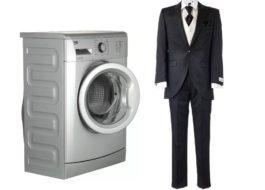 Как постирать мужской костюм в стиральной машине