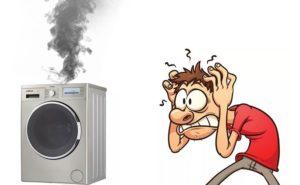 Пошел дым из стиральной машины