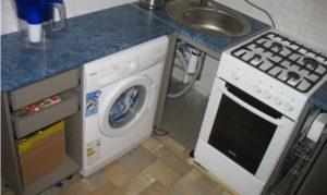 оптимальное расположение плиты и стиральной машины