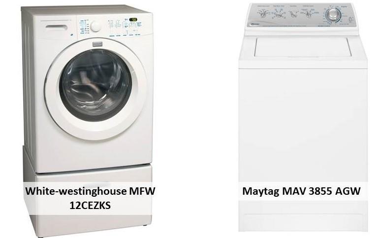 White-westinghouse MFW 12CEZKS Maytag MAV 3855 AGW