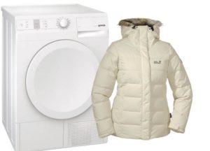 Как сушить пуховик в сушильной машине?