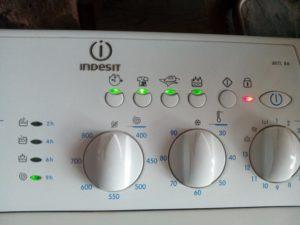 Коды ошибок стиральной машины Индезит по миганию индикатора