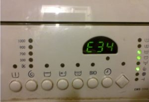 Ошибка Е34 в стиральной машине Electrolux
