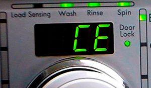 Ошибка CE на стиральной машине LG