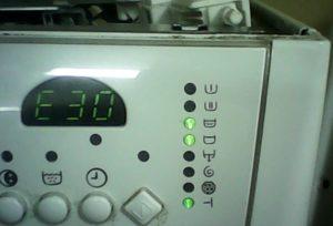 Ошибка E30 в стиральной машине Electrolux