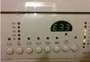 Ошибка E33 в стиральной машине Electrolux
