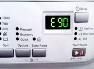 Ошибка E90 в стиральной машине Electrolux