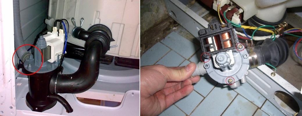 демонтаж помпы стиральной машины LG
