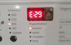 Ошибка E29 в стиральной машине Бош