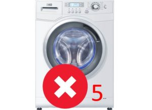 Ошибка 5 в стиральной машине Haier