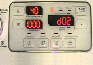 Ошибка D02 в стиральной машине Brandt