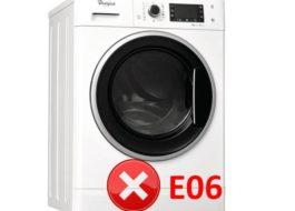Ошибка E06 стиральной машине Вирпул