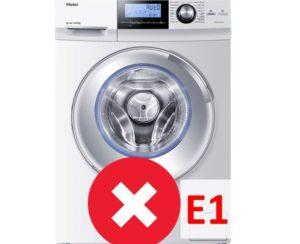 Ошибка E1 в стиральной машине Haier