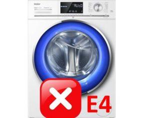 Ошибка E4 в стиральной машине Haier