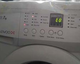 Ошибка E8 в стиральной машине Daewoo