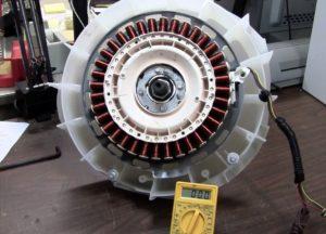 Как проверить мотор стиральной машины LG?