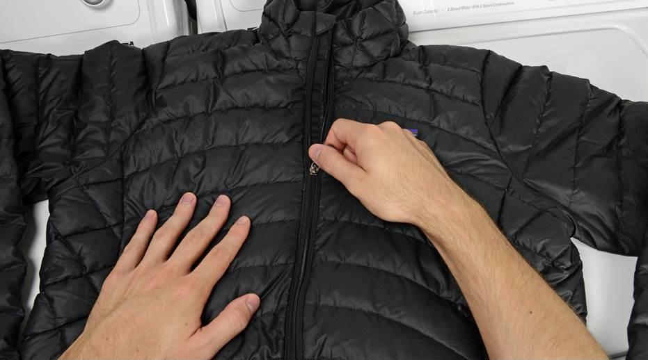 Готовим куртку к стирке