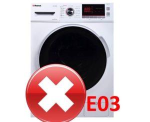 Ошибка E03 в стиральной машине Hansa