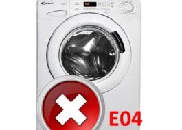 Ошибка E04 в стиральной машине Candy