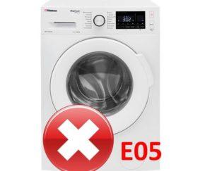 Ошибка E05 в стиральной машине Hansa