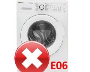 Ошибка E06 в стиральной машине Hansa