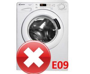 Ошибка E09 в стиральной машине Candy