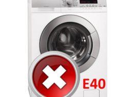 Ошибка E40 в стиральной машине AEG