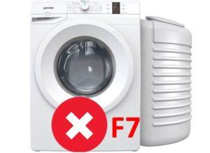 Ошибка F7 в стиральной машине Горенье