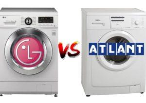 Что лучше: стиральная машина LG или Атлант?