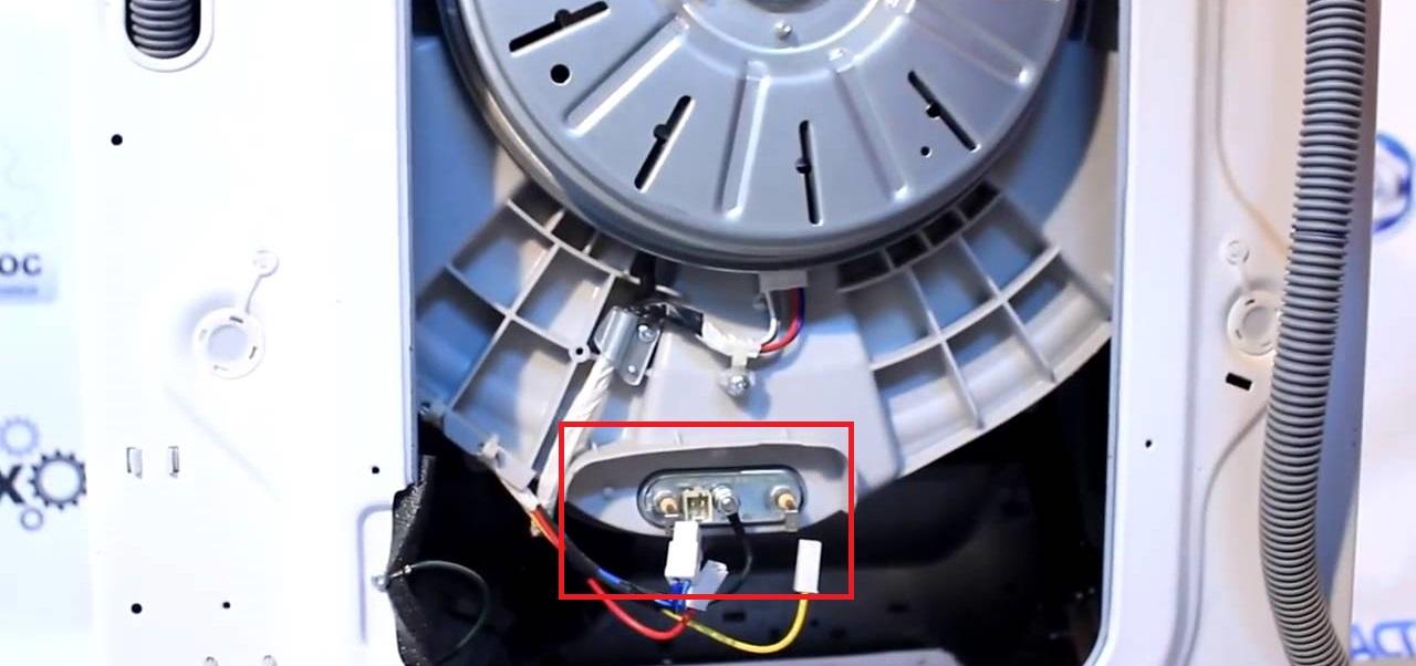 меняем нагревательный элемент машинки LG