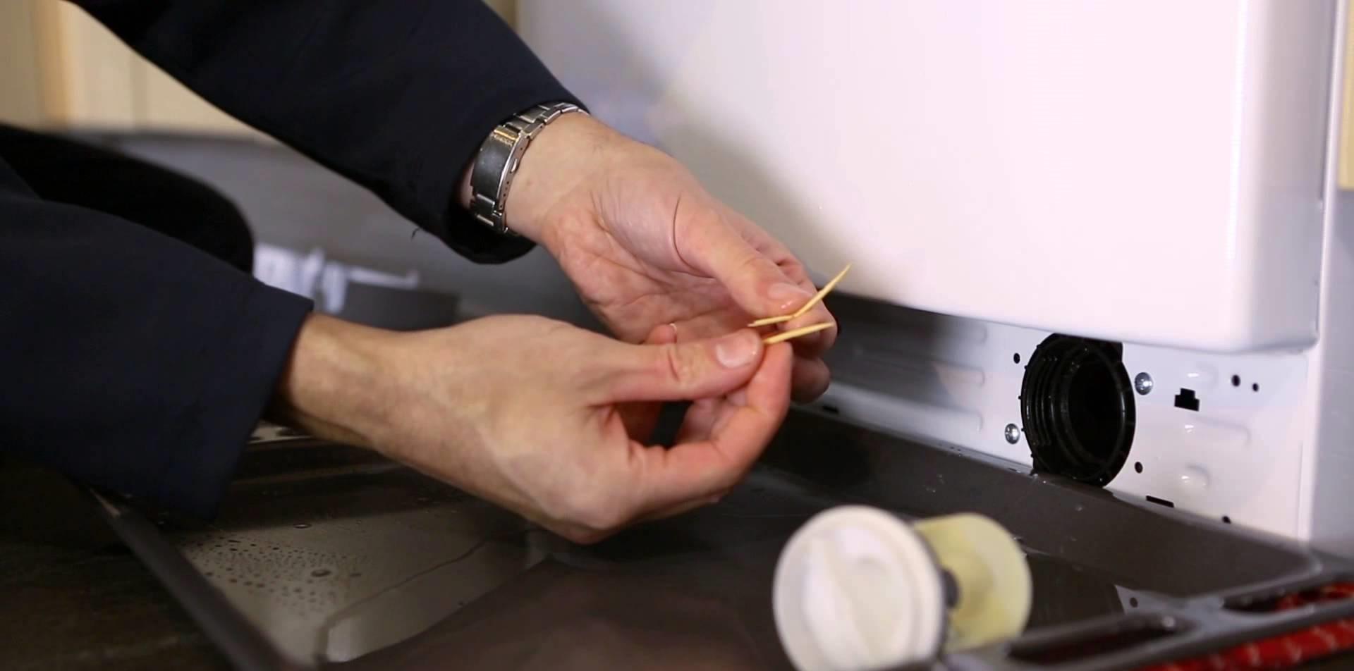 чистим фильтр в стиралке Вестел