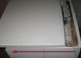 Как снять крышку стиральной машины Индезит?